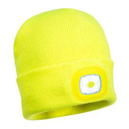 Bonnet LED jaune fluo