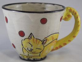 Tasse mit Katzenmotiv