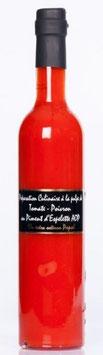 Vinaigre á la pulpe Tomate-Poivron au Piment d´Espelette  (Essig  aus Tomatenfruchtmark , Paprikafruchtmark und Espelette  AOP)500ml