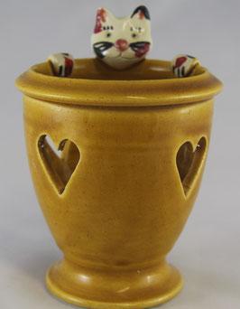 Katzen Teelicht