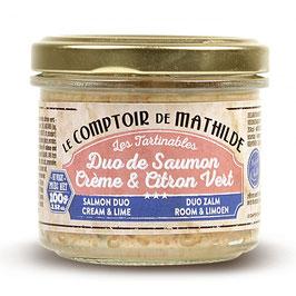 Duo de Saumon Creme & Citron Vert (
