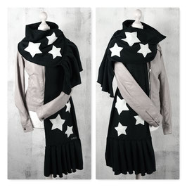 ALL MY STARS BLACK Schal Stola Fleece