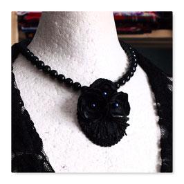 Halskette Collier Kette Vintage BLACK ROSES