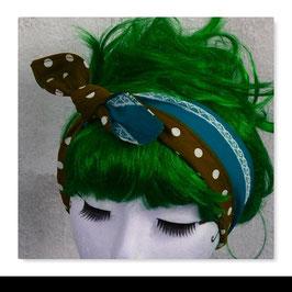 Haarband MIRI PETROL BRAUN