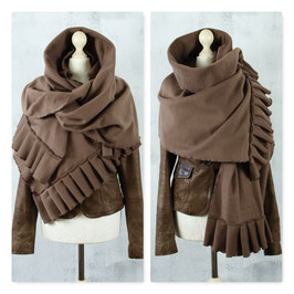 DARK FOREST Schal Stola Fleece TAUPE