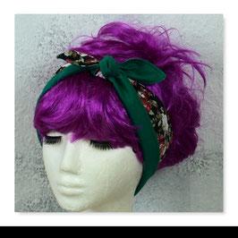 Haarband BLACK ROSES - Grün