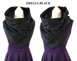ODELIA BLACK  Kragen Tuch Schal Loop Dreieckstuch