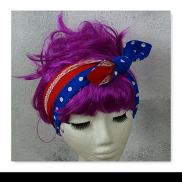 Haarband MIRI Rot Blau