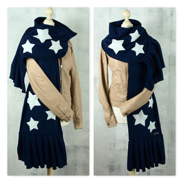 ALL MY STARS DARK BLUE Schal Stola Fleece