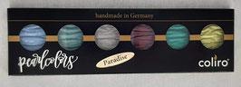 Finetec Coliro Perlglanzfarbenset mit 6 Farbnäpfchen zu 30mm