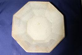 八角粉引き鉢