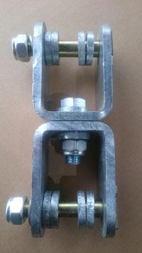 Pendelgelenk Mechanisch Drehbar mit Bolzen und Verdrehsicherung
