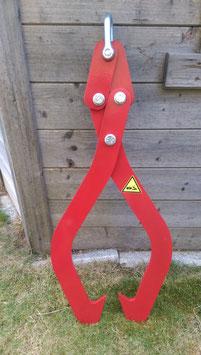 Mechanische kleine Holzzange rot