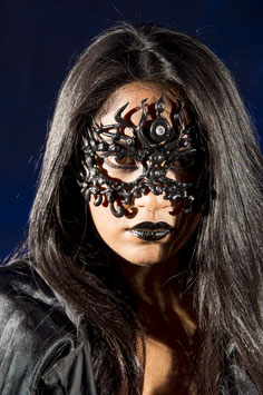 Black Mask with rhinestones