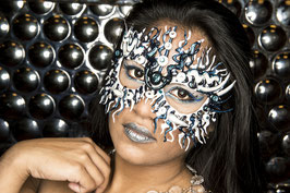 Blue/White Mask