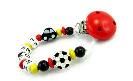 Schnullerkette mit Namen - Deutschland Fußball & Auto 008