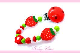 Schnullerkette Erdbeeren 1114