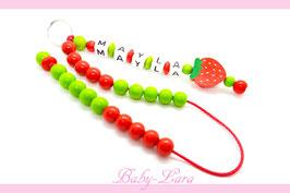 Rechenkette mit Namen - Erdbeere 059