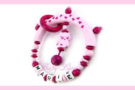 Greifling mit Namen - Rosa Eule mit Herzhalbring 144
