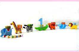 Geburtstagszug Tierparade mit Namensband