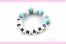 Babyarmband mit Namen - blau 000