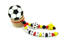 Zahndose mit Namen - Fußball, Stern & Fußballclip Deutschland WM 006