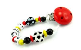 Schnullerkette mit Namen - Deutschland Fußball & Auto WM 008