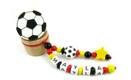 Zahndose mit Namen - Fußball, Stern & Fußballclip Deutschland 006