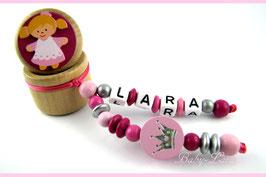 Zahndose mit Namen - Prinzessin mit rosa Krone 109