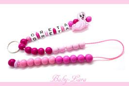 Rechenkette mit Namen - rosa Robbe 055