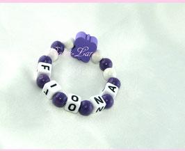 Babyarmband mit Namen - Schmetterling lila 007