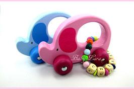 Greifling mit Namen - Greifling Elefanten rosa & blau