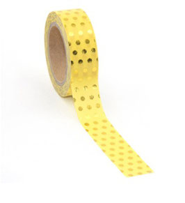 Washi tape Geel dot