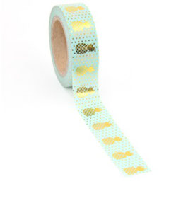 Washi tape Mint ananas