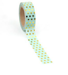 Washi tape Mint dot
