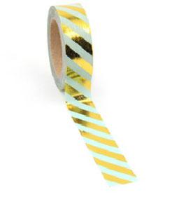 Washi tape Mint streep