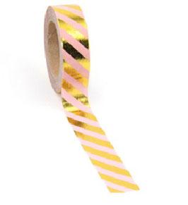 Washi tape Roze streep