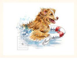 RETTUNGSHUND  | rescue dog | 30x40