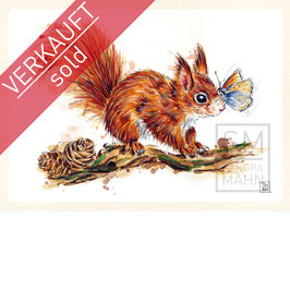 EICHHÖRNCHEN | red squirrel | A4