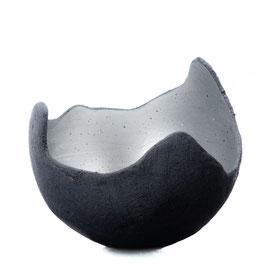 Lichtschale silber - Beton schwarz - grau