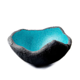 Lichtschale - Disco - blue lagoon - Beton schwarz - grau