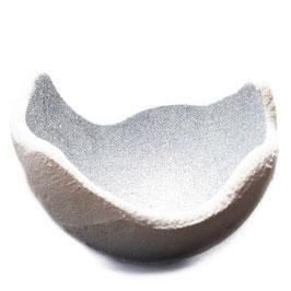 Lichtschale Glitter - holo - Beton weiß