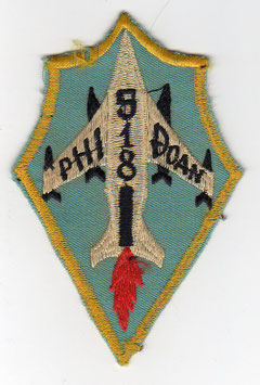 South Vietnam Air Force patch 518 Fighter Squadron A-1 Skyraider