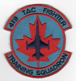 Royal Canadian Air Force patch 419 Tactical Fighter Training Squadron CF-5A era
