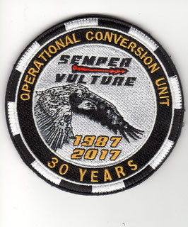 Belgian Air Force patch OCU Operational Conversion Unit F-16B 30th Anniversary 1987 - 2017