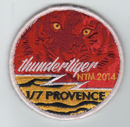 French Air Force patch EC 1/7 ´Provence´ NATO Tiger Meet NTM 2014 Rafale EMBROIDERED