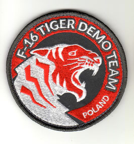 Polish Air Force patch F-16 Tiger Demo Team Poland