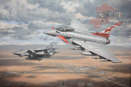 Aviation Art Print - ´SEEK AND DESTROY´ - RAF No.41 (R) Sqn Centenary  by Ronald Wong