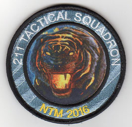 Czech Air Force patch 211 Tactical Squadron NATO Tiger Meet NTM 2016