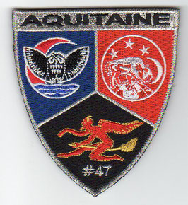 French Air Force patch ETR 3/4 Aquitaine special edition, numbered patch (#47)